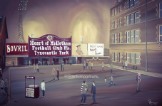 Hearts Tynecastle Memories  A3 Framed print